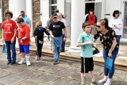 Beeping Easter egg hunt event for visually impaired kids